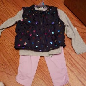 Other - 3pc girl vest set